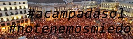 Protesta dels indignats a la Puerta del Sol de Madrid.