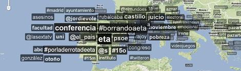 Mapa d'etiquetes a TrendsMap.