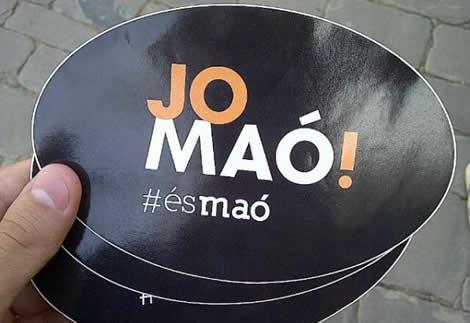 """Imatge de la campanya """"Jo Maó""""."""