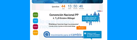 El web de la Convenció del PP a Màlaga