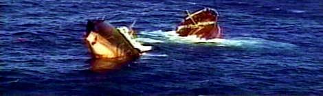 El petrolier Prestige abans d'enfonsar-se en aigües gallegues.