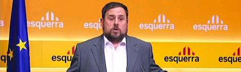 Oriol Junqueras a la seu d'ERC