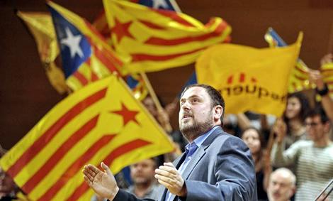 Oriol Junqueras, la nit electoral