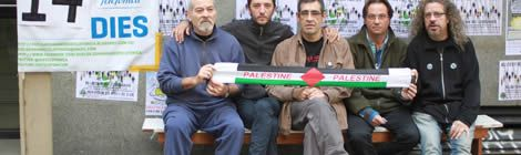 Els treballadors de Telefónica en vaga de fam.