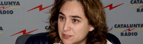 Imatge d'arxiu d'Ada Colau als estudis de Catalunya Ràdio