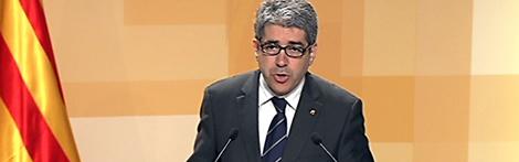 El portaveu del govern, Francesc Homs, en roda de premsa.
