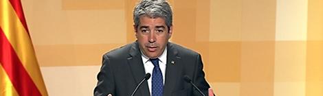 """Francesc Homs parla de """"l'immobilisme total"""" del govern espanyol."""