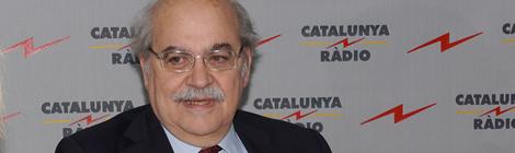 Mas-Colell valorant els pressupostos del govern Rajoy pel 2012.