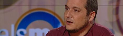 """El diputat de la CUP David Fernàndez, a """"Els matins"""", de TV3."""