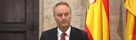 El president Fabra compareix per explicar la decisió de tancar Canal 9.