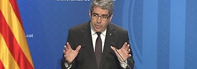 El portaveu Francesc Homs, en roda de premsa després del Consell Executiu.