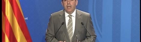 El portaveu Francesc Homs en roda de premsa posterior al Consell Executiu.