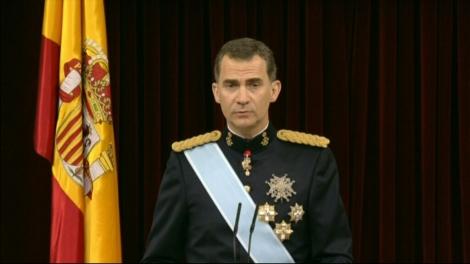 Felip VI pronunciant el seu primer discurs com a rei davant del Congrés.
