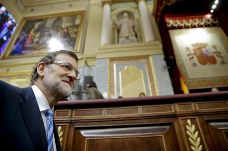 El president del govern espanyol, Mariano Rajoy, al debat de política general. (Foto: EFE)