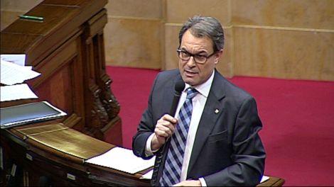Artur Mas respon les preguntes dels grups en sessió de control després del pronunciament del TC sobre la Declaració de Sobirania.