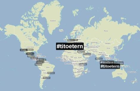 L'etiqueta #TitoEtern s'ha estès arreu. (Foto: TrendsMap)