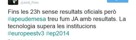 Twitter ha tret fum amb l'etiqueta #apeudemesa.