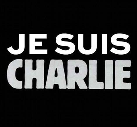 """El lema """"JeSuisCharlie"""" s'ha estès a la xarxa entre els missatges de suport al setmanari."""